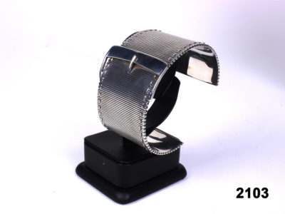 925 sterling silver vintage Links buckle cuff bracelet in original box from Antiques of Kingston