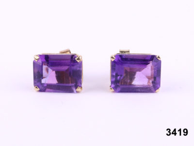 14 carat gold amethyst earrings at Antiques of Kingston