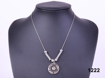 classic Sterling silver pendant and earrings