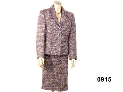 Speckled purple white and rust skirt suit by Minuet from Antiques of Kingston