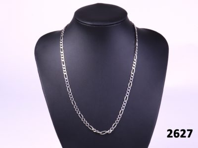 925 Sterling silver Figaro chain necklace.at antiques of kingston