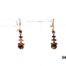 9 carat Gold drop earrings with a orange stone at antiques of kingston