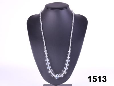 Faux crystal costume jewellery necklace at antiques of kingston