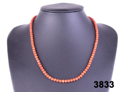 coral necklace at antiques of kingston