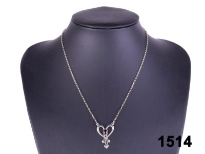 The Glasgow Girls 925 sterling silver 'Hearts' necklace by Shetland Jewellery at antiques of kingston