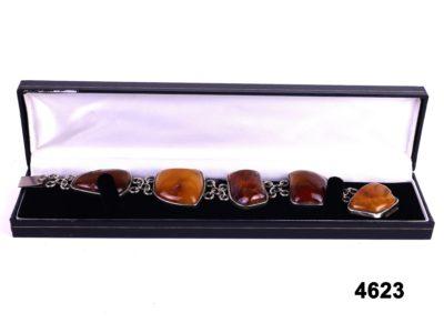 Vintage amber bracelet (No hallmarks but tests for silver) from antiques of kingston