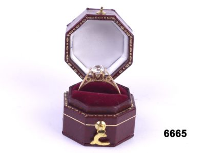 9 carat gold and cubic zirconia solitaire ring from Antiques of Kingston