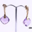 18 carat Gold drop earrings with amethyst and diamonds at antiques of kingston