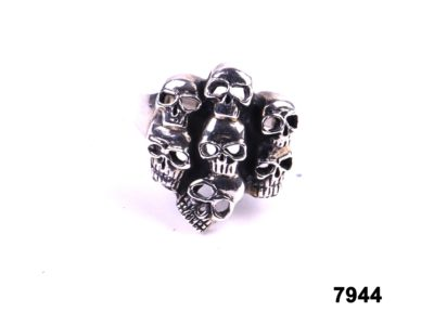 925 Sterling silver skull ring from Antiques of Kingston