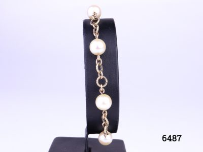 Vintage 9 carat gold bracelet with pearls from Antiques of kingston