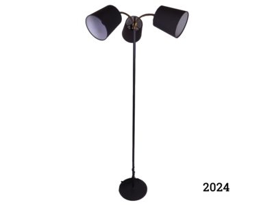 1960s Three branch floor lamp with swan necks Measures 250mm in diameter at base (Fully rewired and PAT tested) Main photo showing the whole lamp