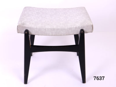 1960s Retro G-Plan stool with grey pvc seat and ebonised legs (Some wear on the base). Seat area measures 450mm long by 60mm high Main photo showing stool width long view
